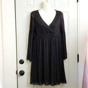 BCBGMAXAZRIA dress M dots black